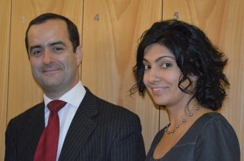 Rodrigo Polanco with Doctoral Programme Director Shaheeza Lalani